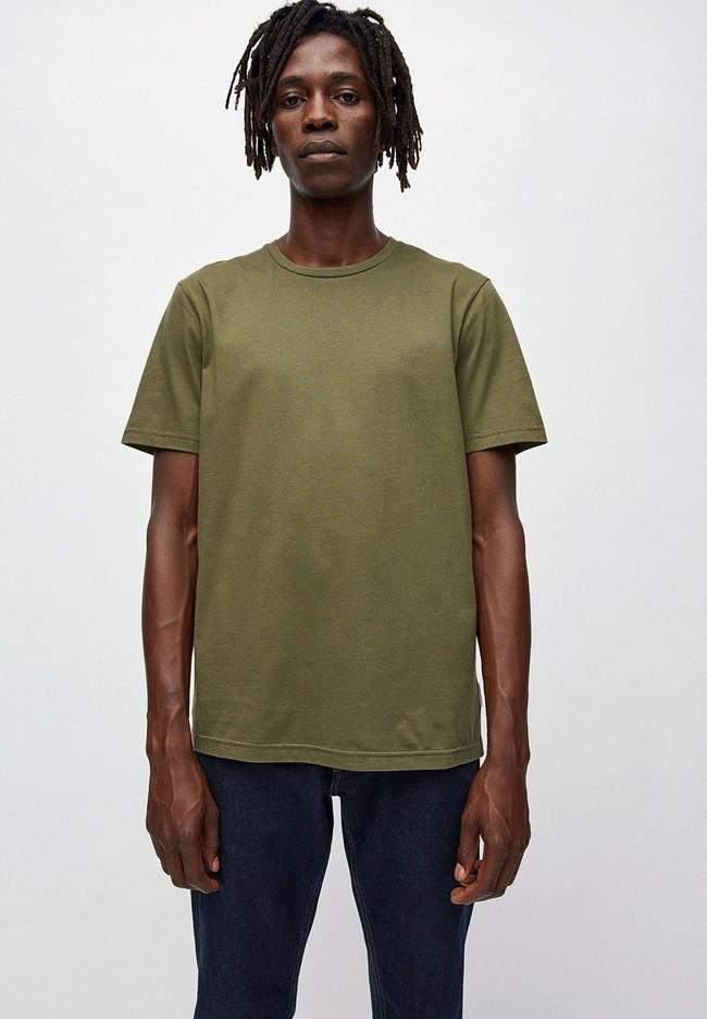 T-shirt kaki en coton bio - jaames - Armedangels