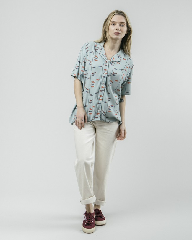 Koinobori kite aloha blouse - Brava Fabrics num 3