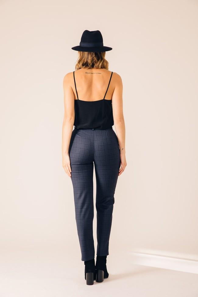 Pantalon tailleur casablanca tartan bleu - 17h10 num 3