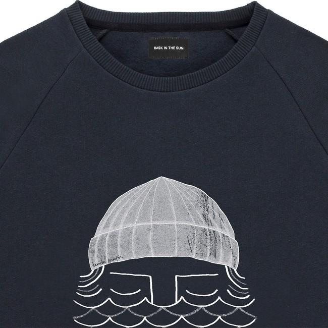 Sweat en coton bio black to the sea - Bask in the Sun num 2