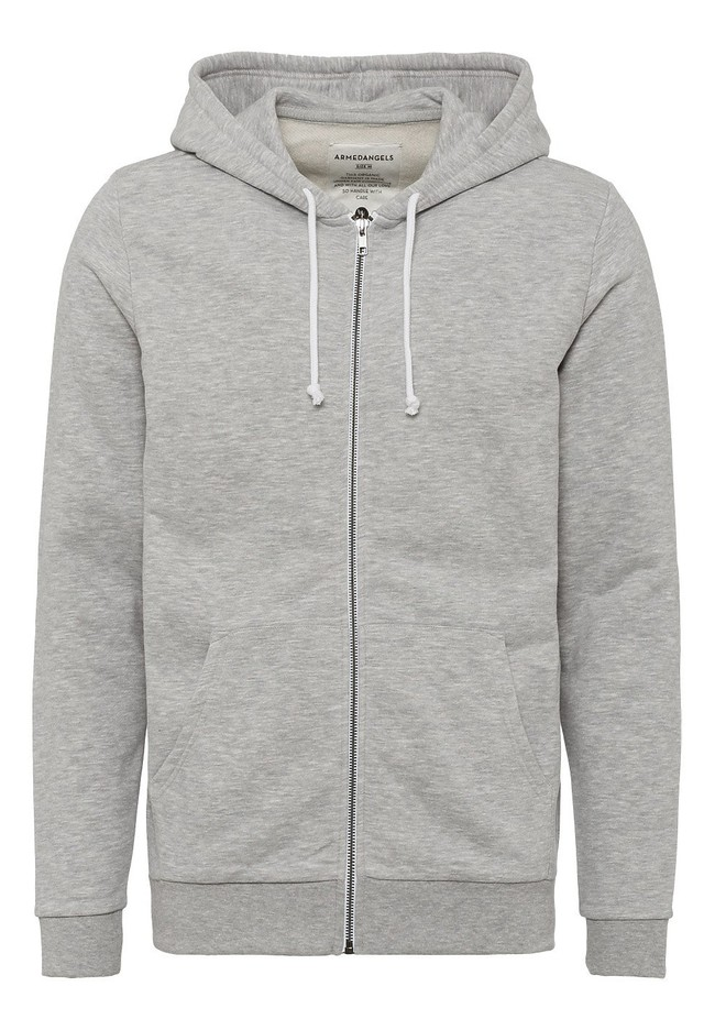 Veste zippée grise en coton bio et polyester recyclé - joaa - Armedangels num 4