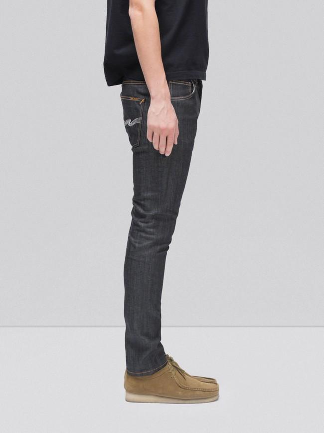 Jean slim brut en coton bio - lean dean dry tonal ecru - Nudie Jeans num 2