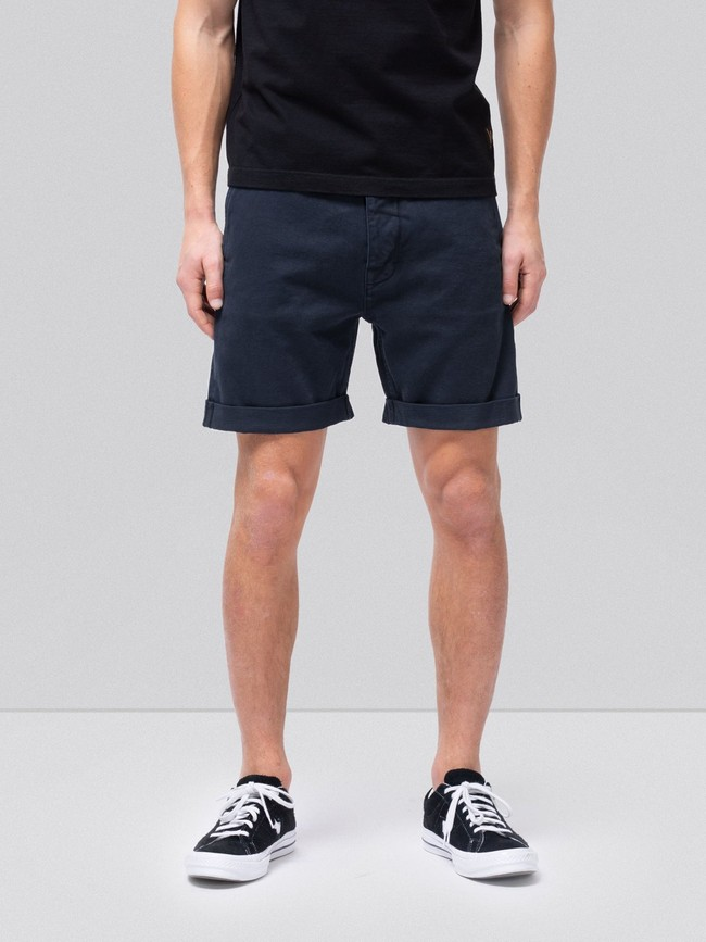 Short marine en coton bio - luke - Nudie Jeans