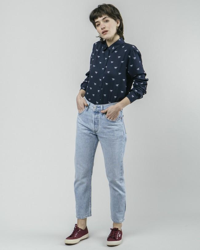 Japanese sky printed blouse - Brava Fabrics num 3