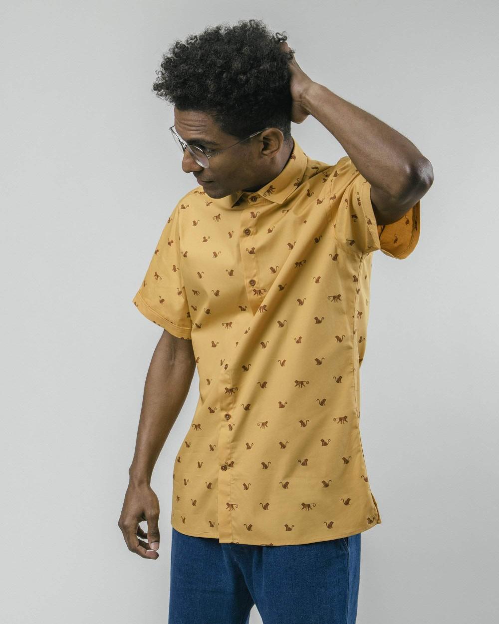 Monkey monkey printed shirt - Brava Fabrics