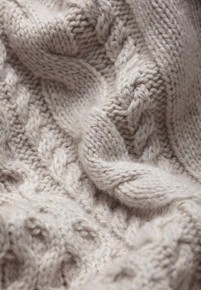 Pull écru en coton et laine bio - caabo - Armedangels num 4