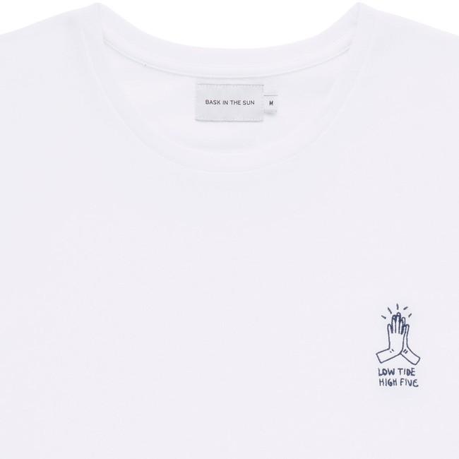 T-shirt en coton bio white high five - Bask in the Sun num 1