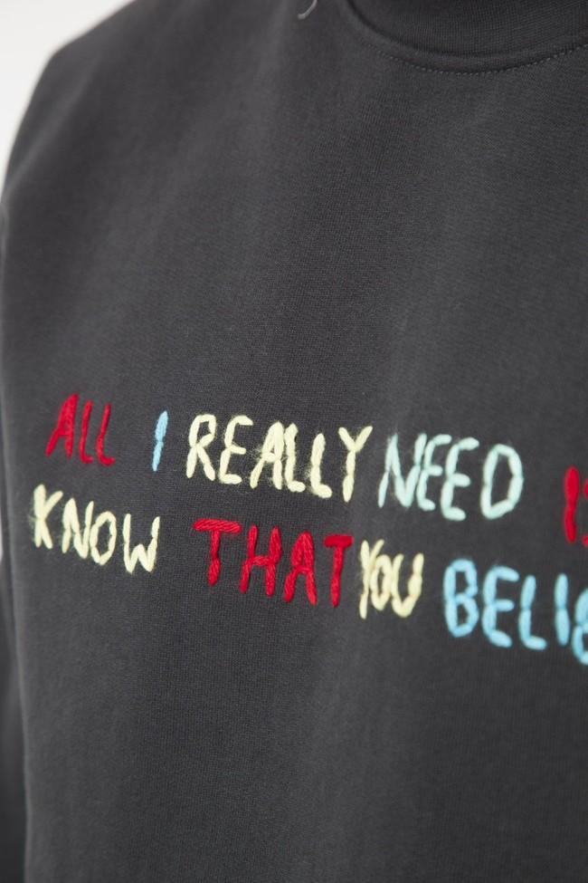 Sweatshirt en coton bio believe - Thinking Mu num 5
