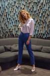 Pantalon tailleur new-york bleu roi - 17h10 - 5