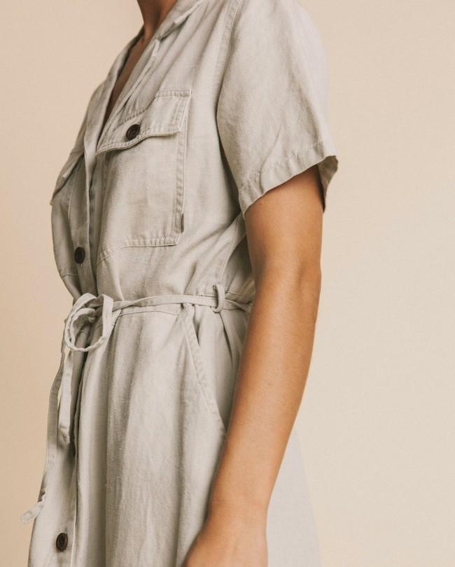Robe beige en chanvre, tencel et coton bio - karen - Thinking Mu num 1
