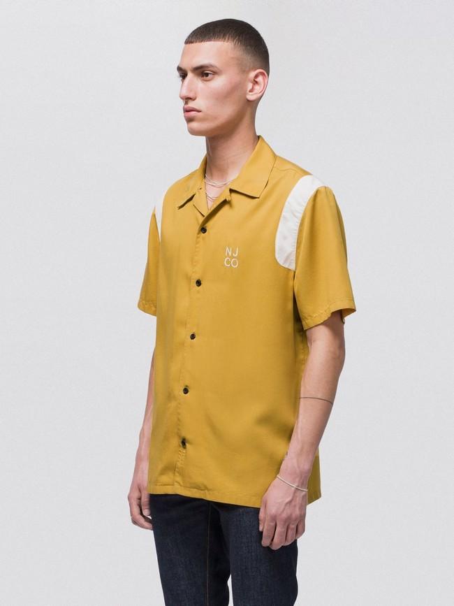 Chemise manches courtes safran en tencel - jack bowling - Nudie Jeans num 1