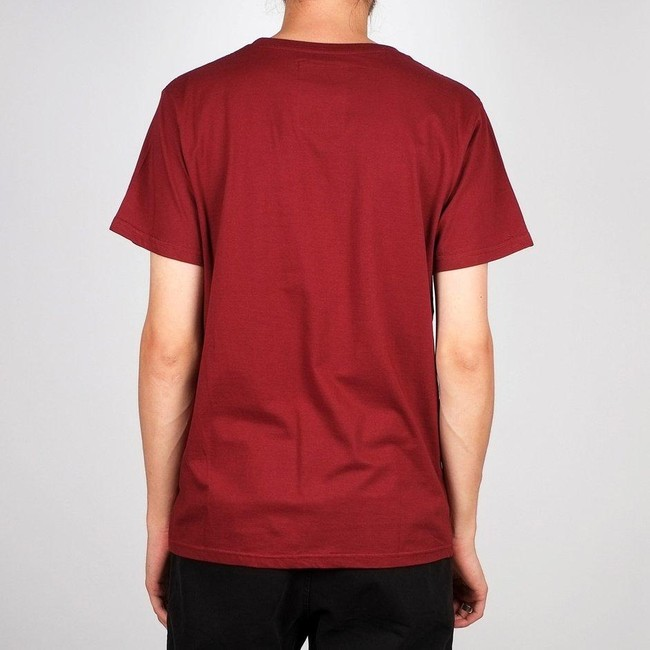 T-shirt bordeaux en coton bio - stockholm - Dedicated num 1