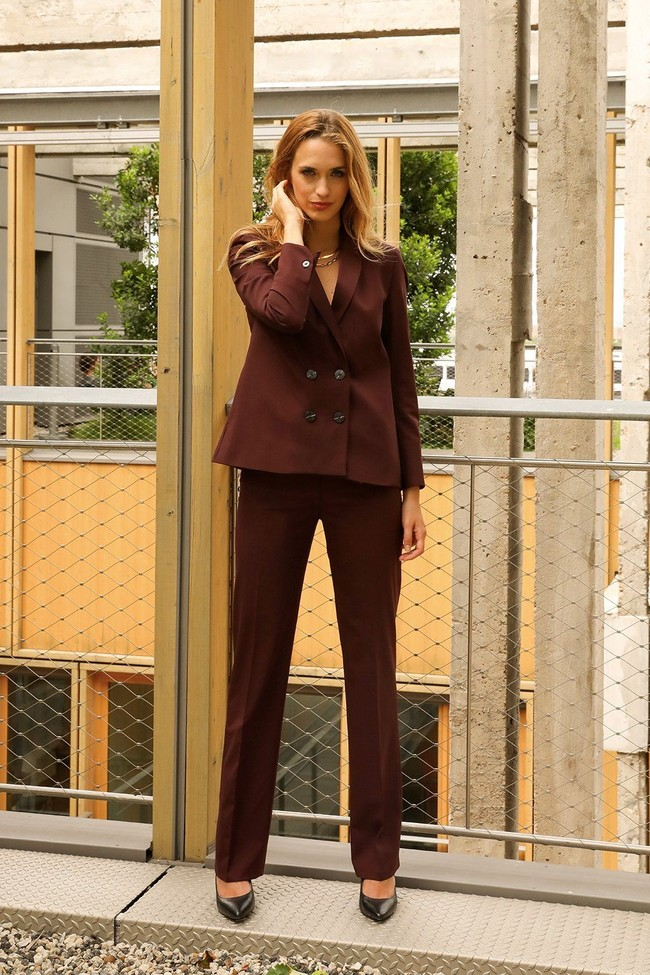 Pantalon tailleur berlin prune - 17h10 num 3