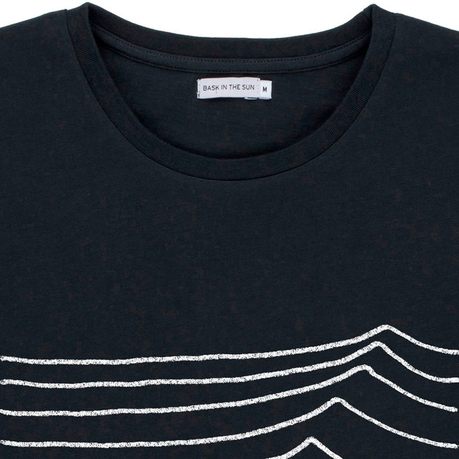T-shirt en coton bio black swell - Bask in the Sun num 1