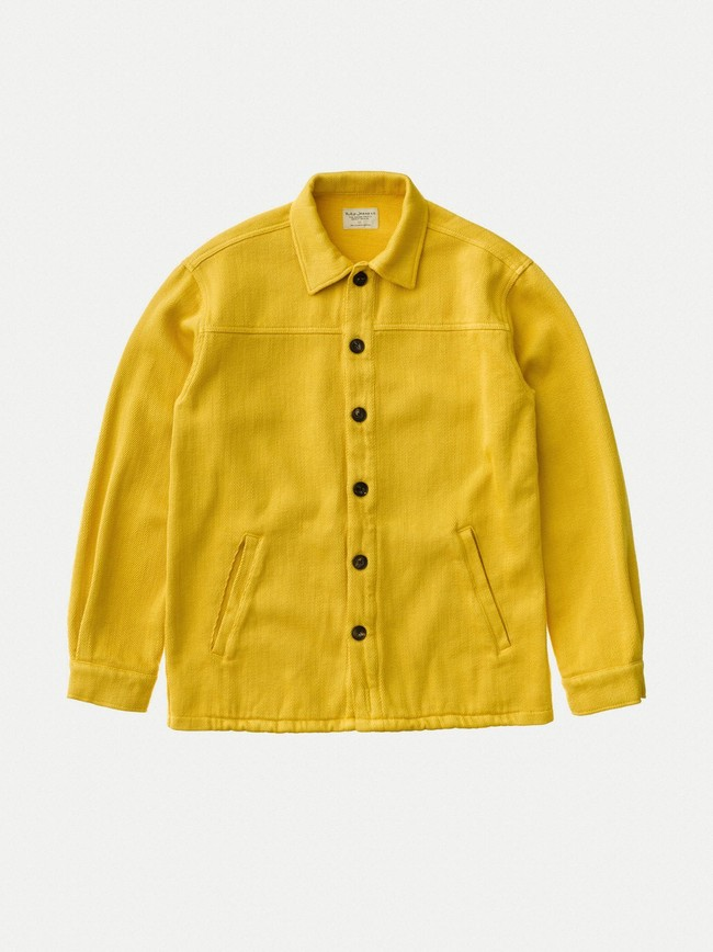 Surchemise jaune twill en coton bio - elias - Nudie Jeans num 6
