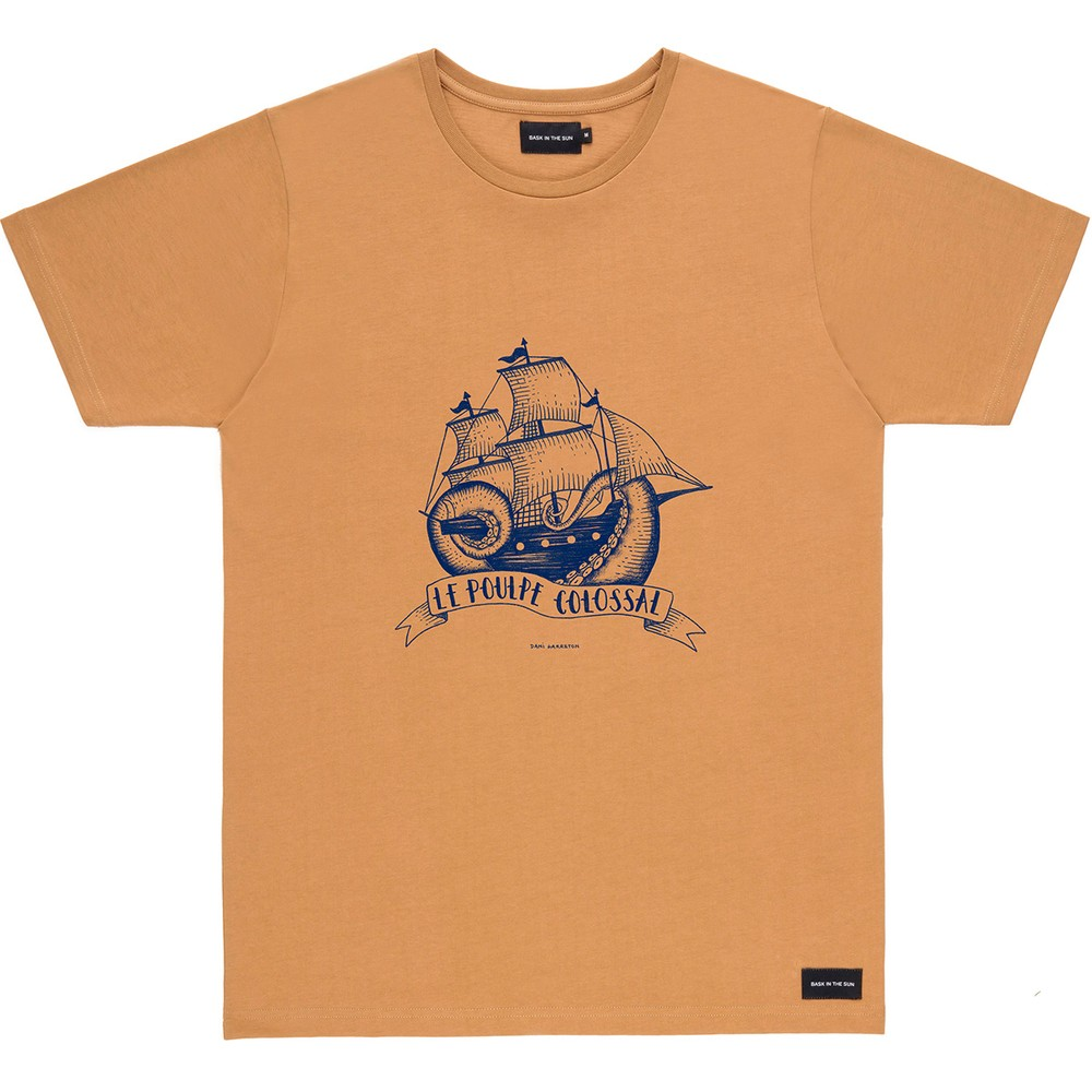 T-shirt en coton bio brown poulpe - Bask in the Sun