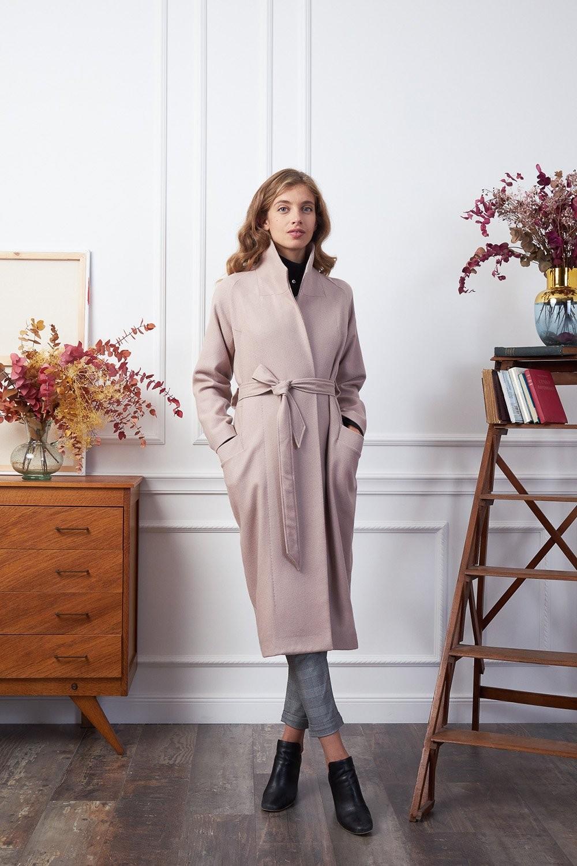 Manteau long vieux rose - Les Récupérables