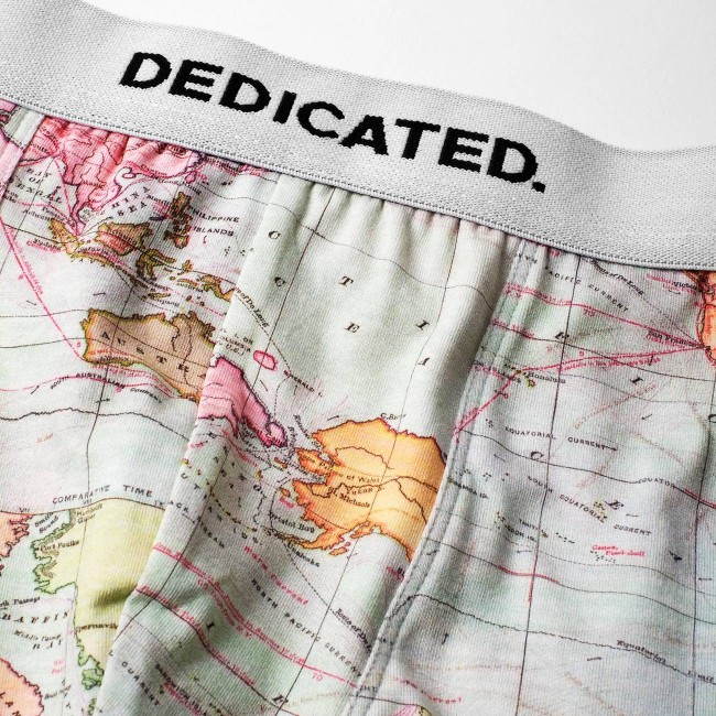 Boxer motif map en coton bio - Dedicated num 1