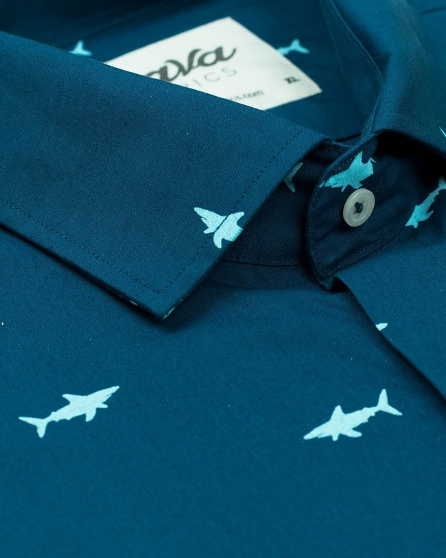 Sharks printed shirt - Brava Fabrics num 3