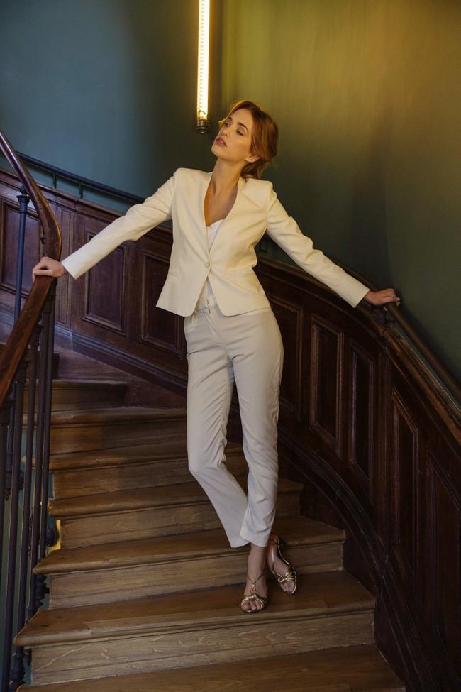 Pantalon tailleur new-york ivoire - 17h10