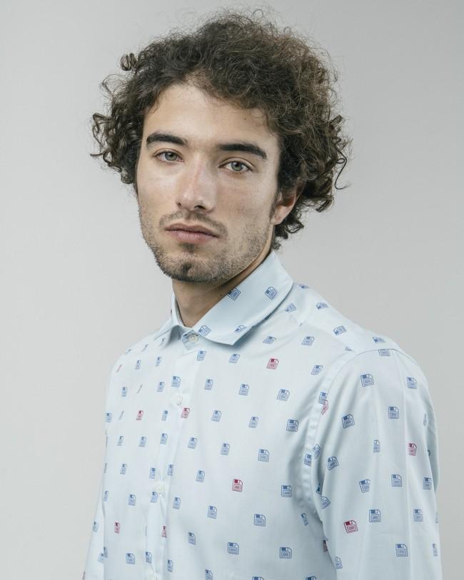 90's diskettes printed shirt - Brava Fabrics num 5