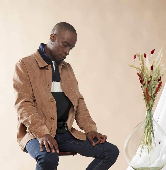 Veste velours beige en coton bio - Knowledge Cotton Apparel num 4