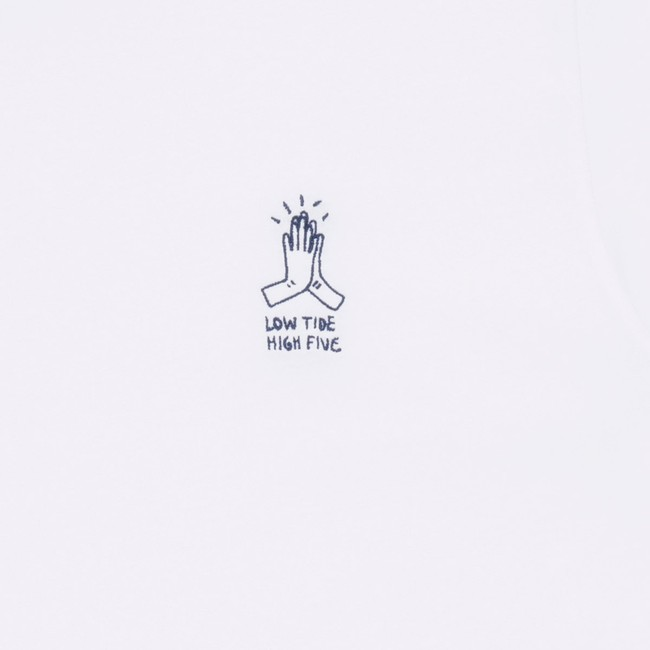 T-shirt en coton bio white high five - Bask in the Sun num 2