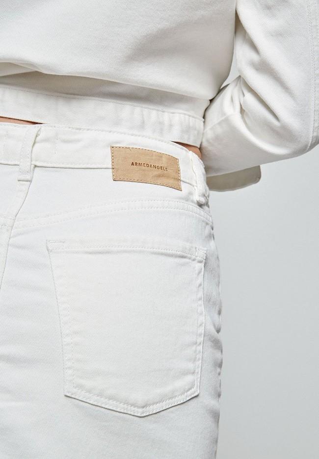 Jupe en jean blanc en coton bio - liaara - Armedangels num 3