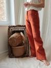 L'incomparable pantalon ample en lin orange - C. Bergamia - 6