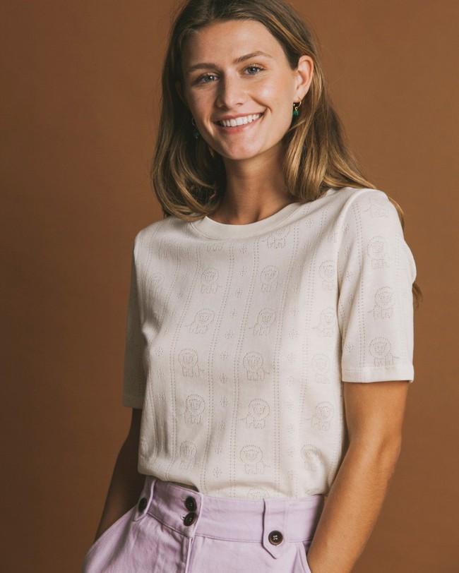 T-shirt écru en tencel et coton bio - mara - Thinking Mu