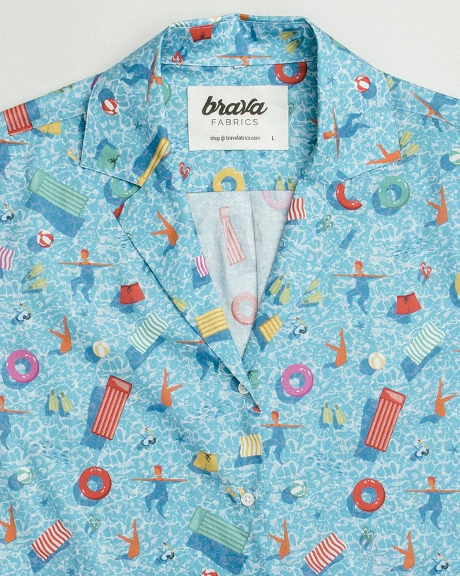 Swimming pool aloha shirt - Brava Fabrics num 2