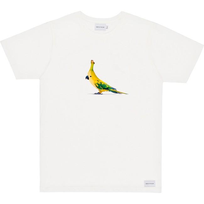 T-shirt white banana bird - Bask in the Sun