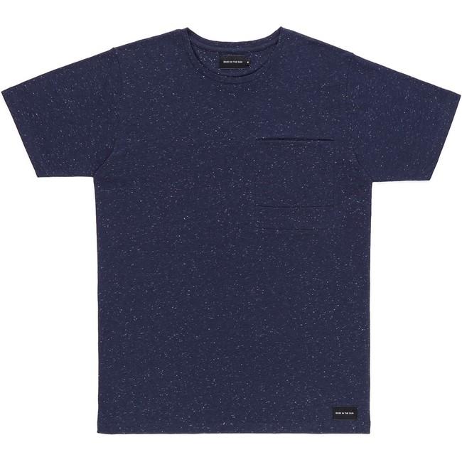 T-shirt en coton bio navy pantxoa - Bask in the Sun