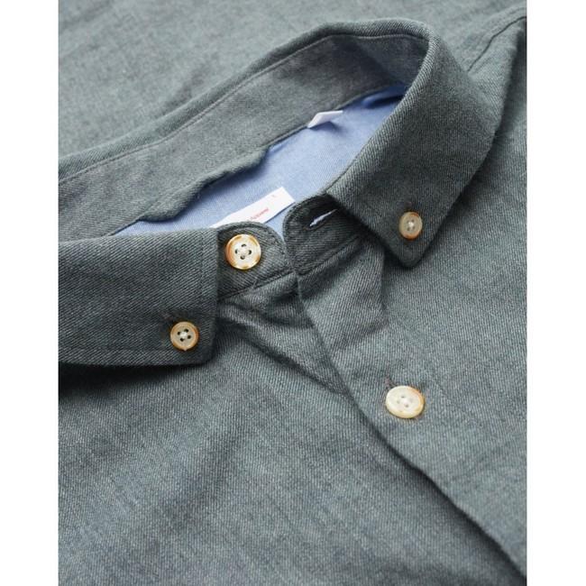 Chemise en flanelle vert-de-gris en coton bio - Knowledge Cotton Apparel num 2