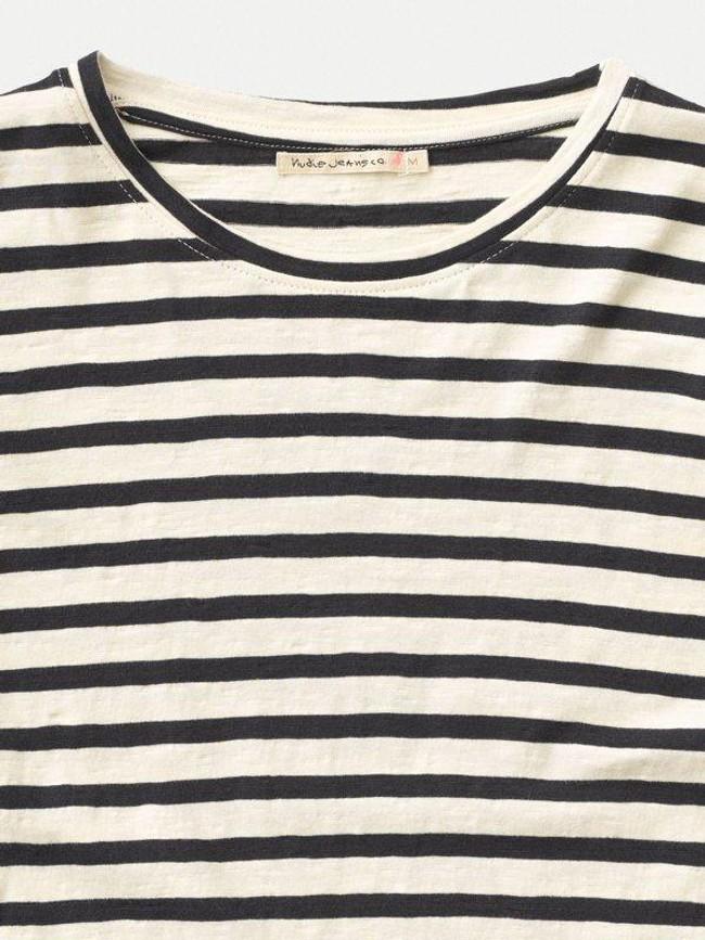 T-shirt manches longues rayé en coton bio - orvar - Nudie Jeans num 3