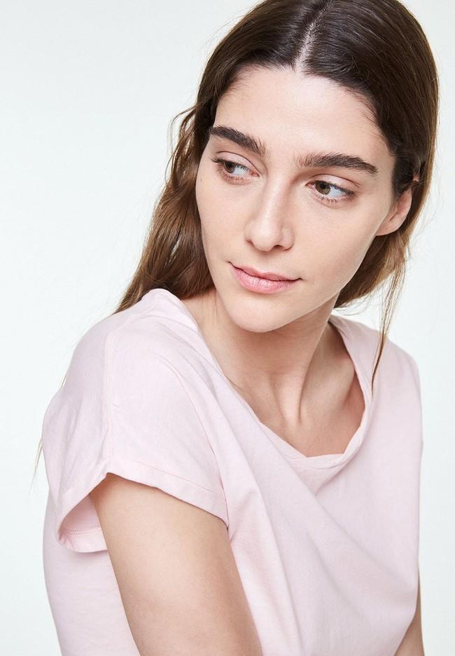 T-shirt uni rose pale en coton bio - laale - Armedangels num 2