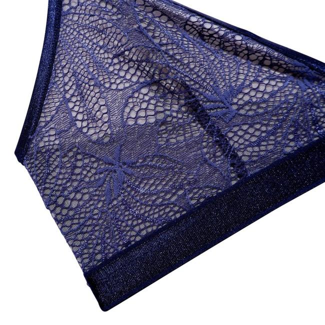 Soutien-gorge en dentelle bleu en nylon recyclé - britta - Underprotection num 3