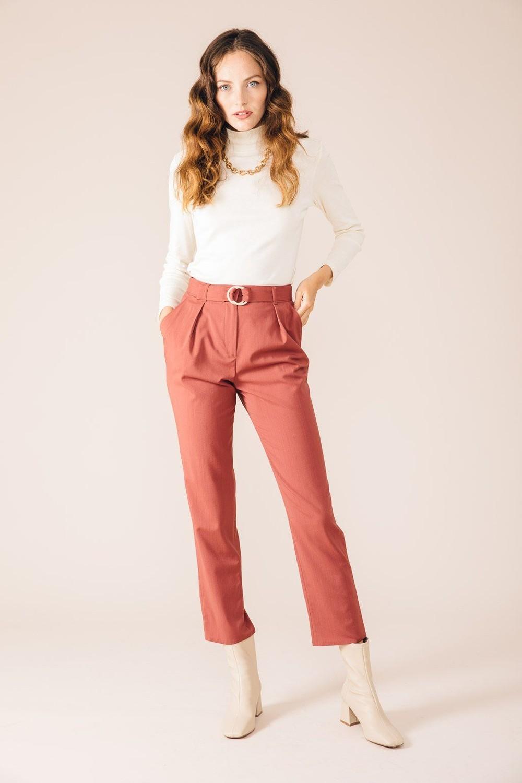 Pantalon tailleur casablanca rose brique - 17h10