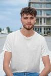 T-shirt homme en lin bio - blanc cassé - Caruus - 3