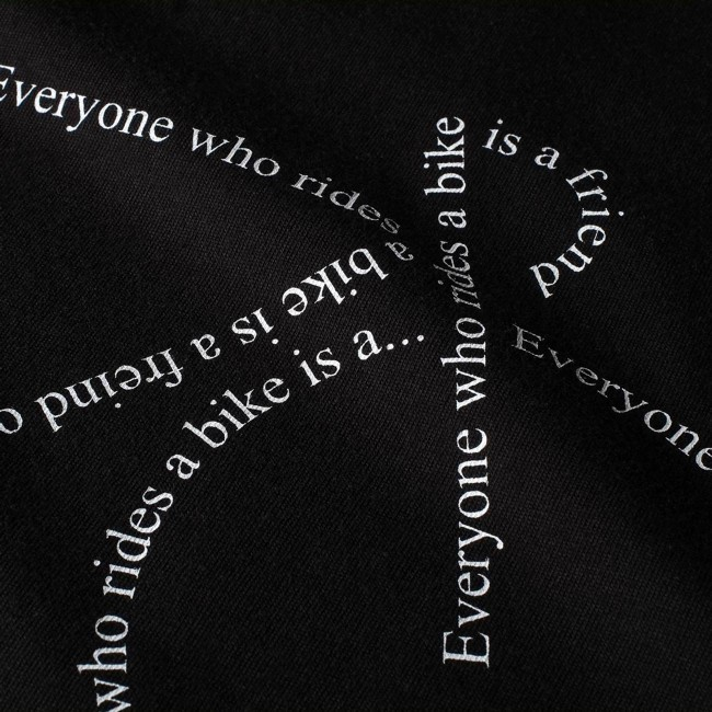 T-shirt noir motif vélo - text bike - Dedicated num 2