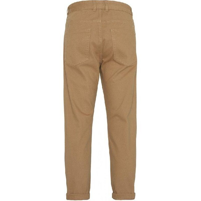 Pantalon chino ample camel en coton bio - bob - Knowledge Cotton Apparel num 1
