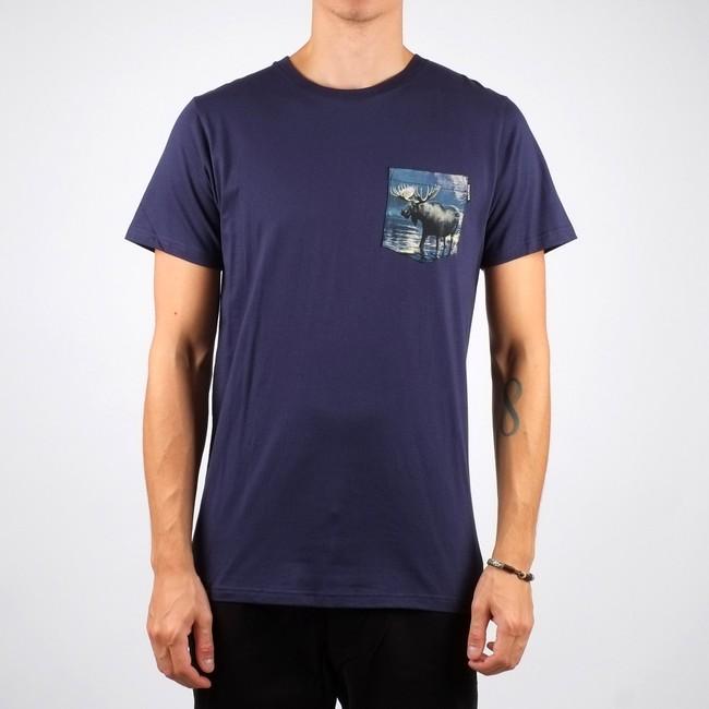 T-shirt poche imprimée en coton bio - Dedicated