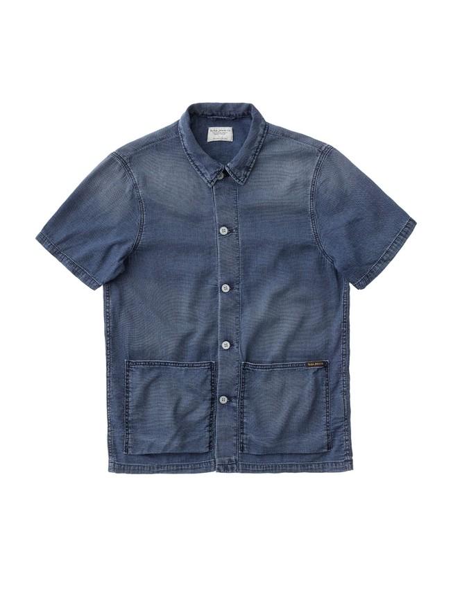 Chemise manches courtes jean en coton bio - svante cuban - Nudie Jeans num 3