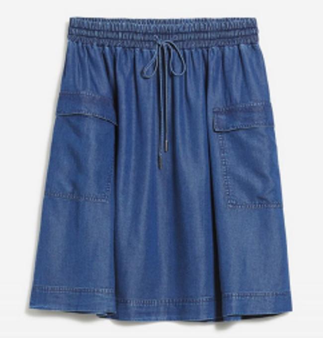 Jupe bleu jean en tencel - alonaa - Armedangels num 4