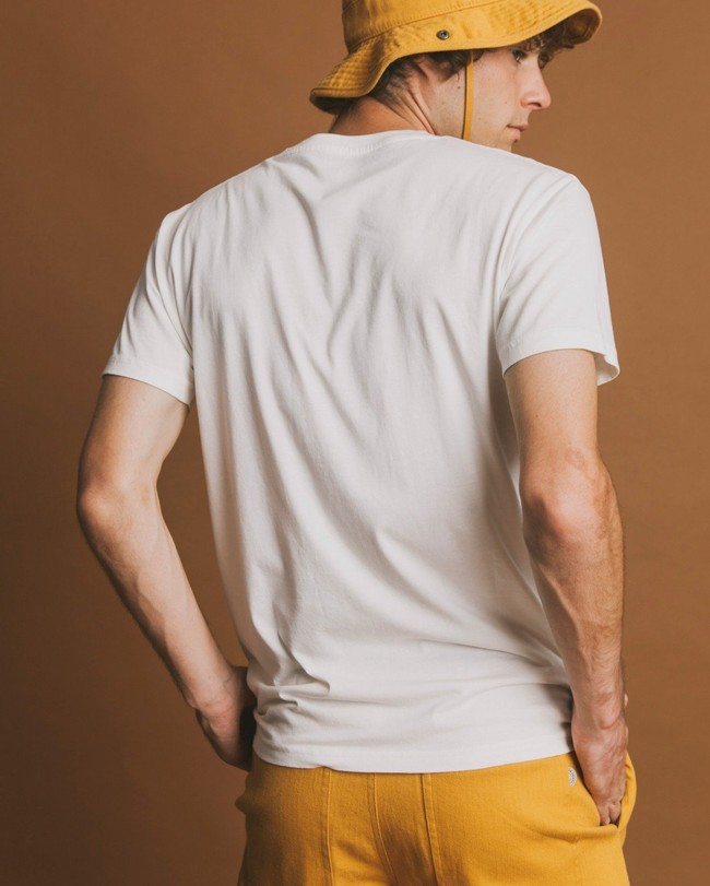 T-shirt blanc imprimé en coton bio - ceylan - Thinking Mu num 2