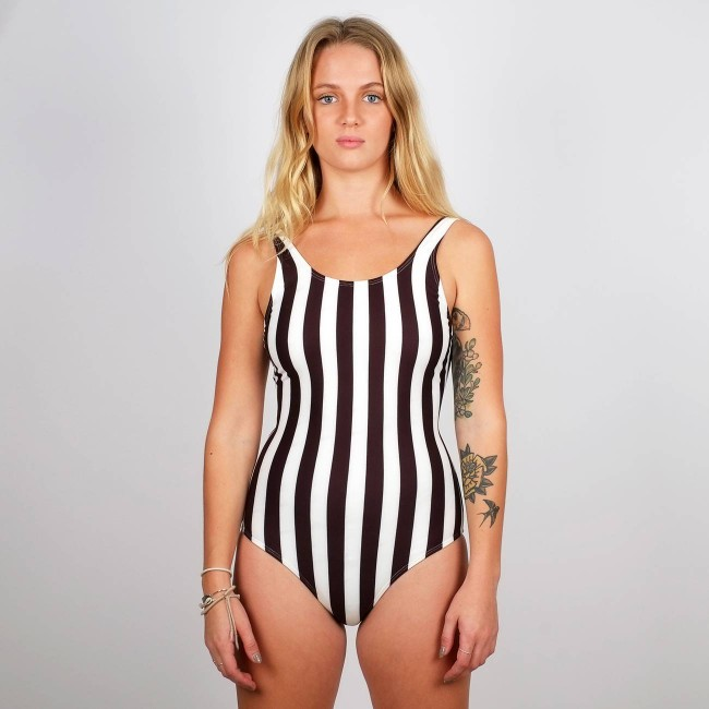 Maillot une pièce rayures - big stripes - Dedicated num 1