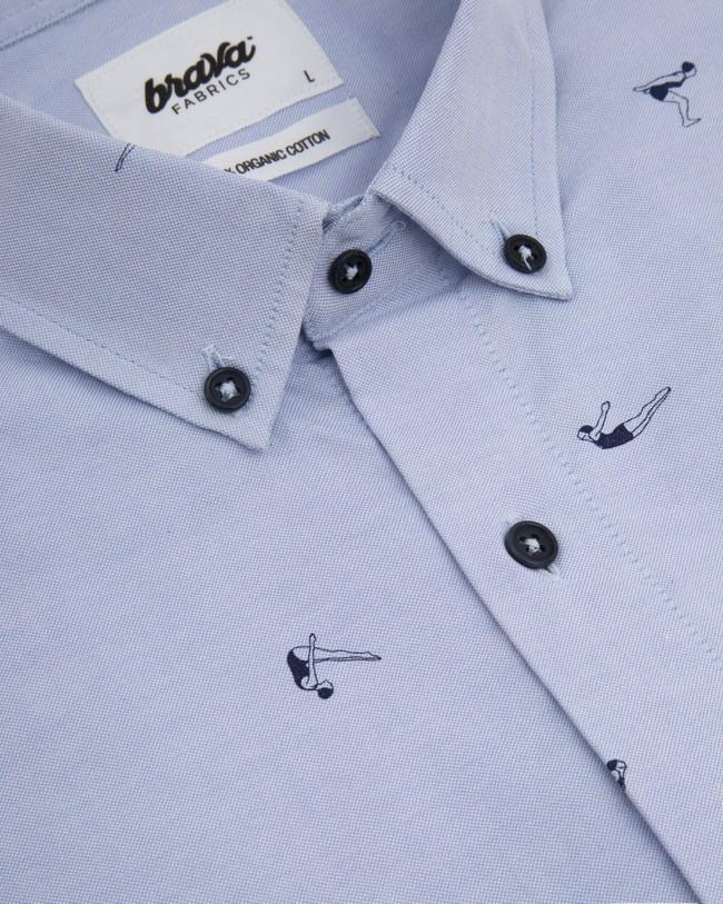 Vintage swimmer printed shirt - Brava Fabrics num 3
