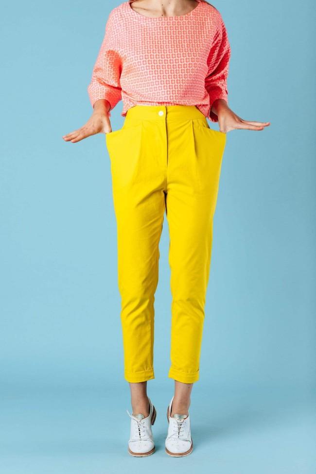 Pantalon kipants jaune - Les Récupérables num 1