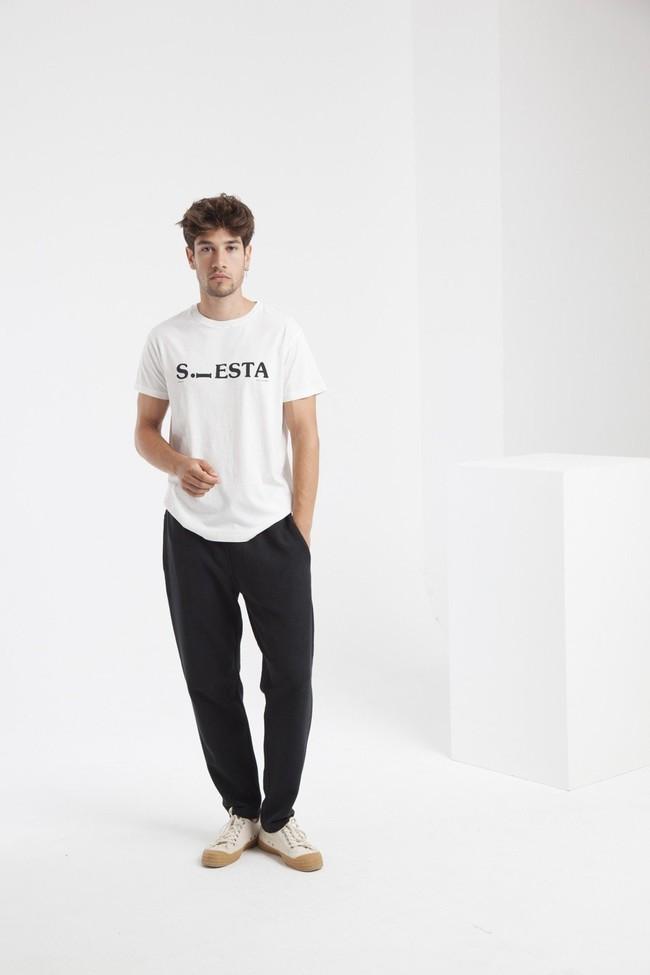 T-shirt blanc siesta en coton biologique - Thinking Mu num 4