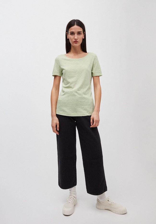 T-shirt vert pâle en coton bio - johannaa - Armedangels num 3